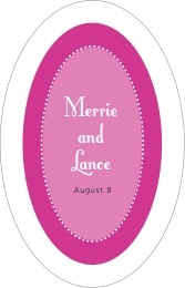 Summer Garden tall oval labels