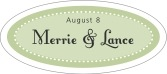 Summer Garden oval labels