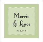 Summer Garden square labels