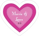 Summer Garden heart labels
