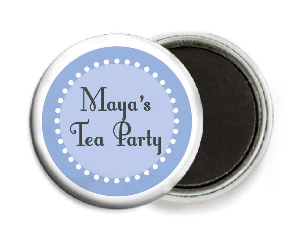 custom button magnets - periwinkle - summer garden (set of 6)
