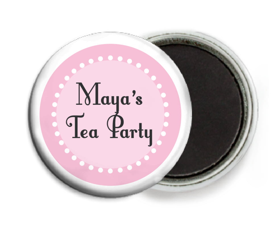 custom button magnets - pale pink - summer garden (set of 6)