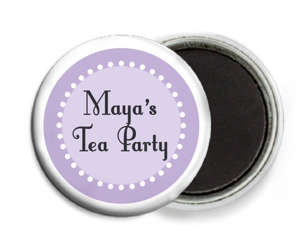 custom button magnets - lilac - summer garden (set of 6)