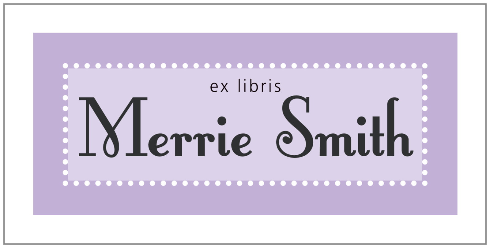 bookplates for everyone - lilac - summer garden (set of 24)