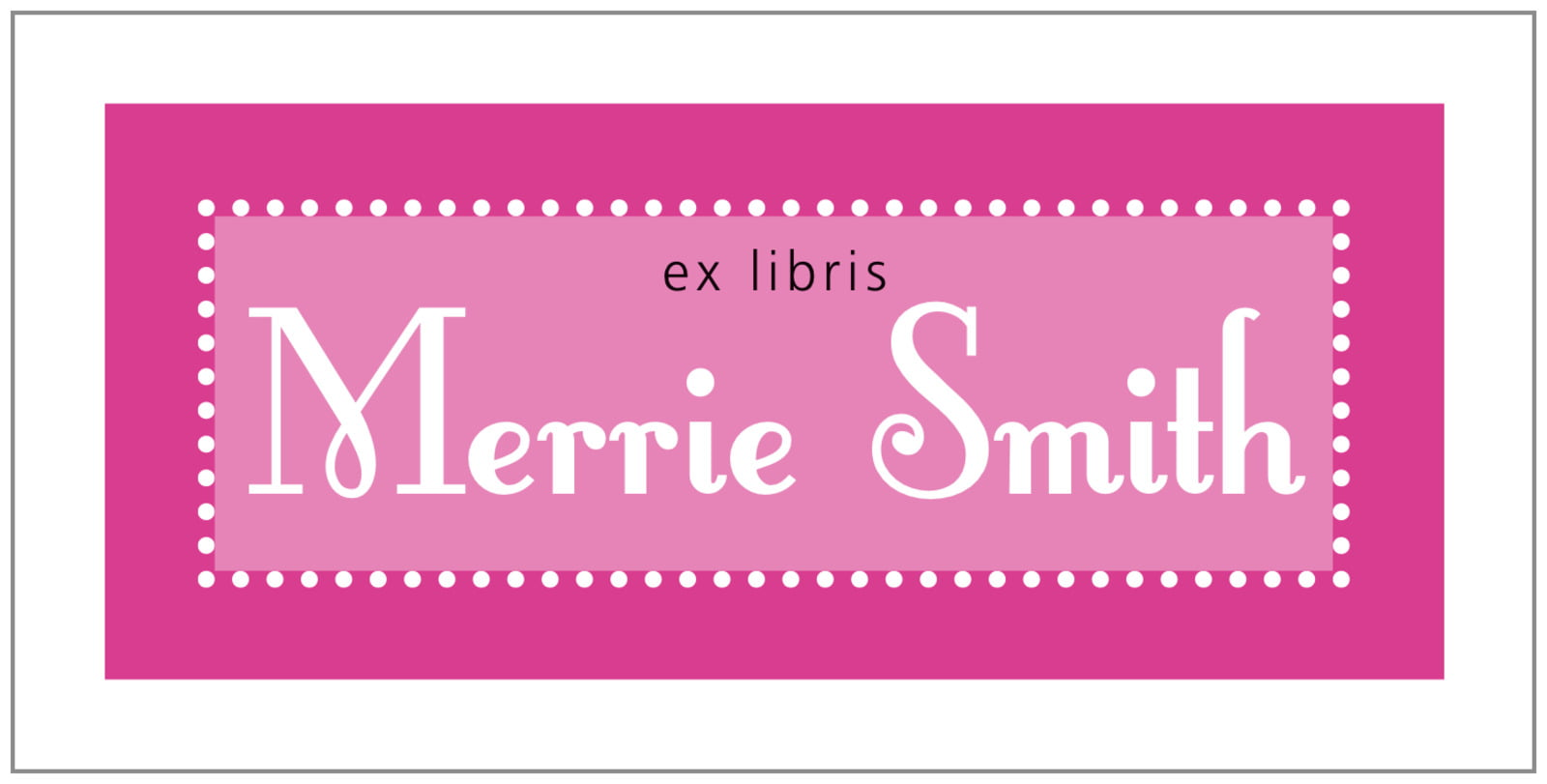 bookplates for everyone - bright pink - summer garden (set of 24)