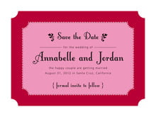 custom save-the-date cards - deep red - summer garden (set of 10)