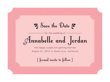 custom save-the-date cards - grapefruit - summer garden (set of 10)