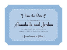 custom save-the-date cards - blue - summer garden (set of 10)