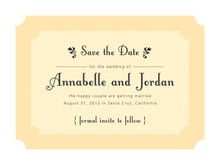 custom save-the-date cards - sunburst - summer garden (set of 10)