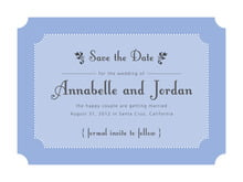 custom save-the-date cards - periwinkle - summer garden (set of 10)