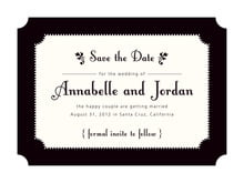 custom save-the-date cards - tuxedo - summer garden (set of 10)