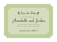 custom save-the-date cards - green tea - summer garden (set of 10)