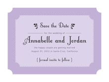 custom save-the-date cards - lilac - summer garden (set of 10)