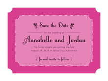custom save-the-date cards - bright pink - summer garden (set of 10)