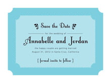 custom save-the-date cards - bahama blue - summer garden (set of 10)