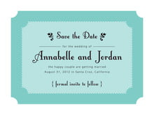 custom save-the-date cards - aruba - summer garden (set of 10)