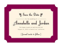custom save-the-date cards - burgundy - summer garden (set of 10)