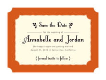 custom save-the-date cards - spice - summer garden (set of 10)