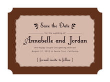custom save-the-date cards - chocolate - summer garden (set of 10)