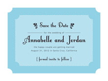 custom save-the-date cards - sky - summer garden (set of 10)