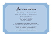 custom enclosure cards - blue - summer garden (set of 10)