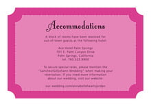 custom enclosure cards - bright pink - summer garden (set of 10)