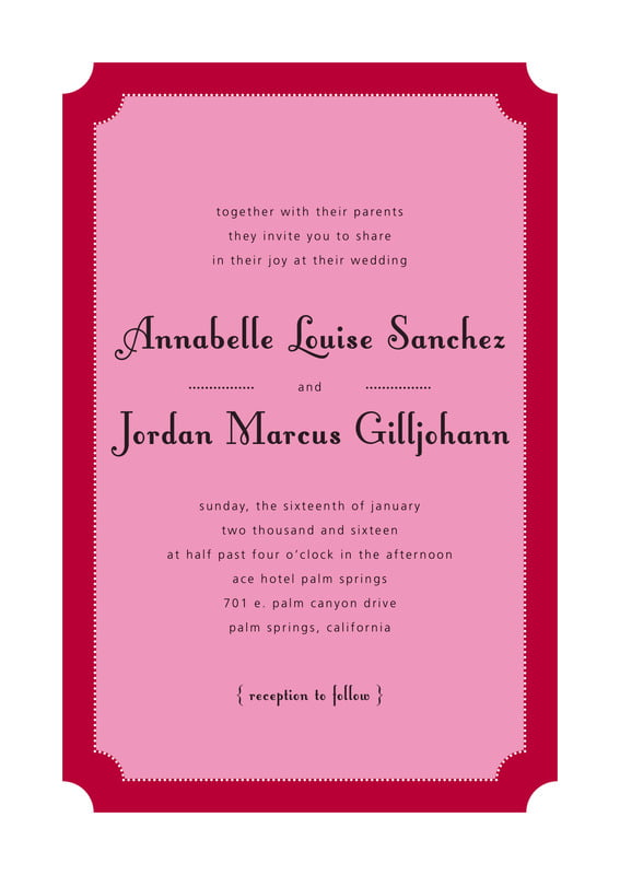 custom invitations - deep red - summer garden (set of 10)