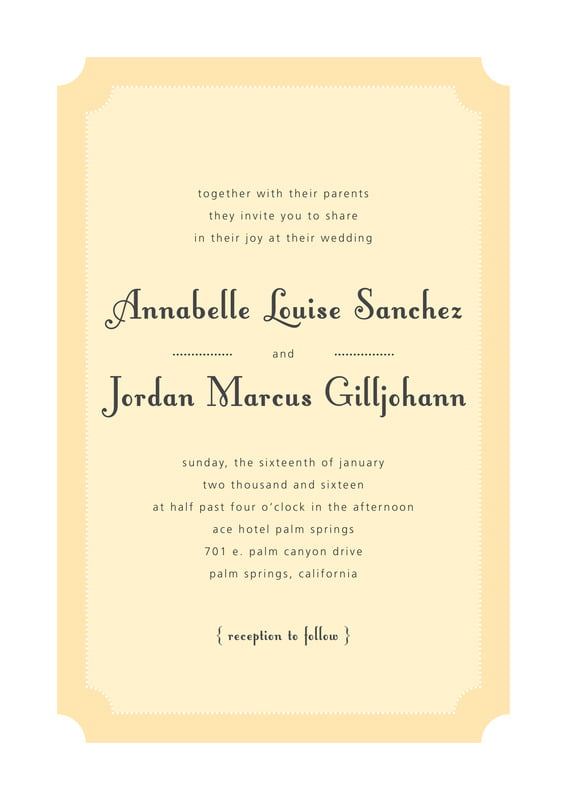 custom invitations - sunburst - summer garden (set of 10)