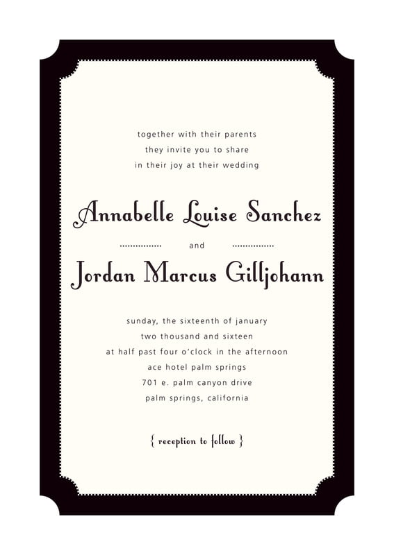 custom invitations - tuxedo - summer garden (set of 10)