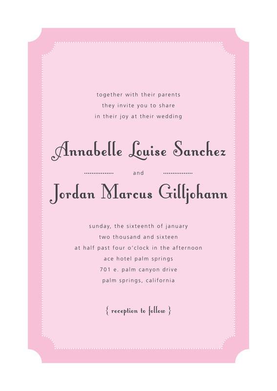 custom invitations - pale pink - summer garden (set of 10)
