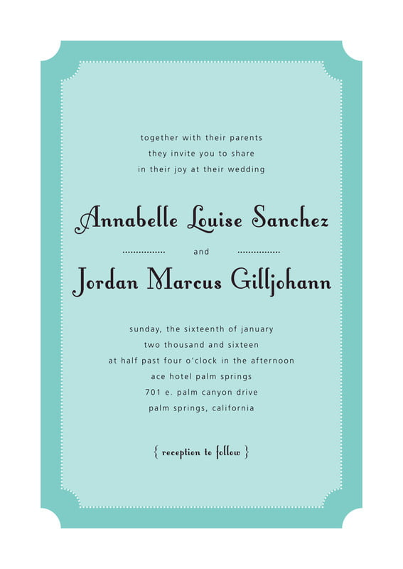 custom invitations - aruba - summer garden (set of 10)