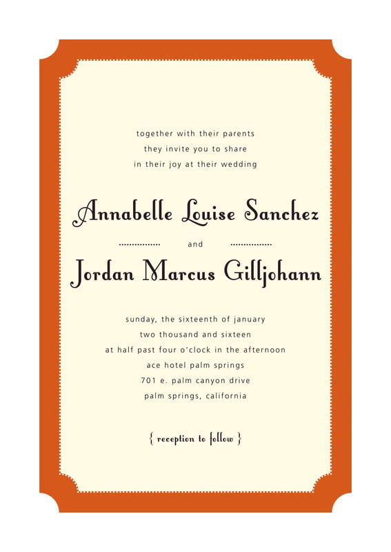 custom invitations - spice - summer garden (set of 10)