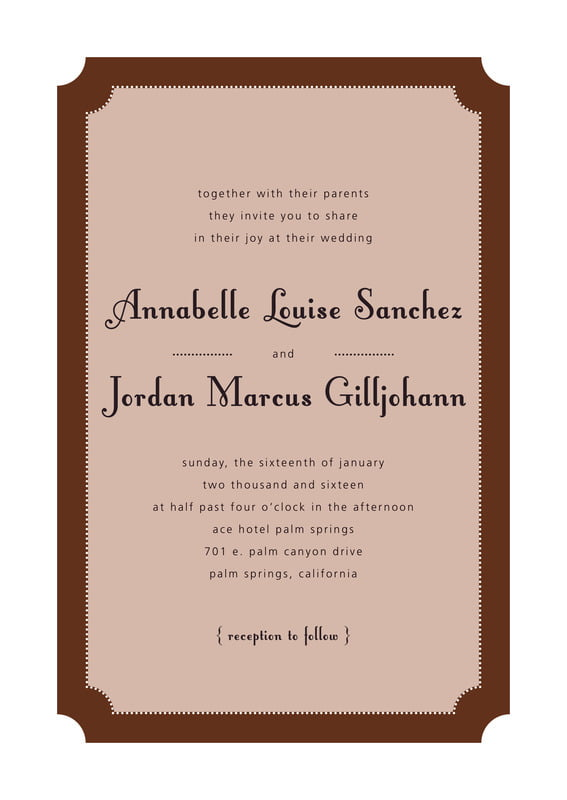 custom invitations - chocolate - summer garden (set of 10)