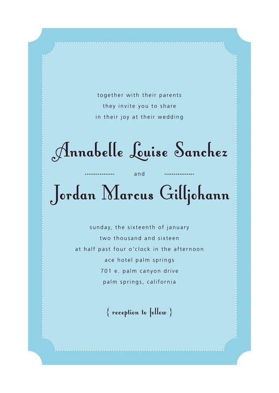 custom invitations - sky - summer garden (set of 10)