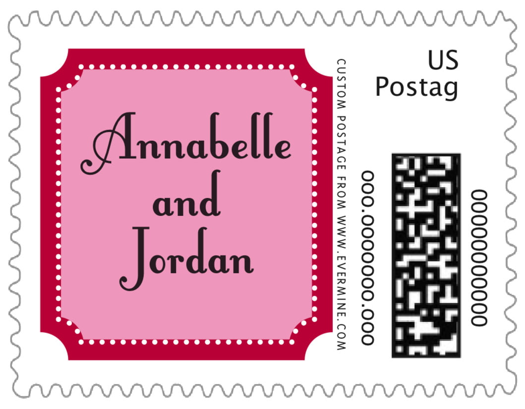 small custom postage stamps - deep red - summer garden (set of 20)