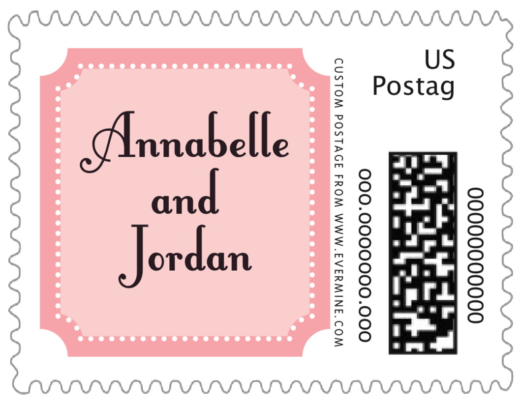 small custom postage stamps - grapefruit - summer garden (set of 20)