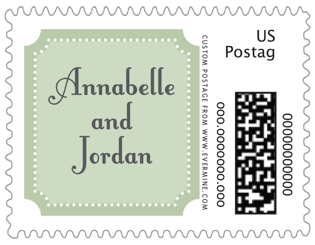 small custom postage stamps - sage - summer garden (set of 20)