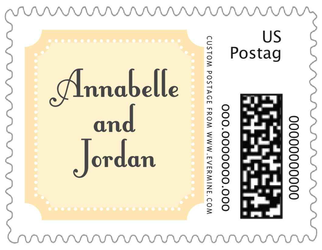 small custom postage stamps - sunburst - summer garden (set of 20)