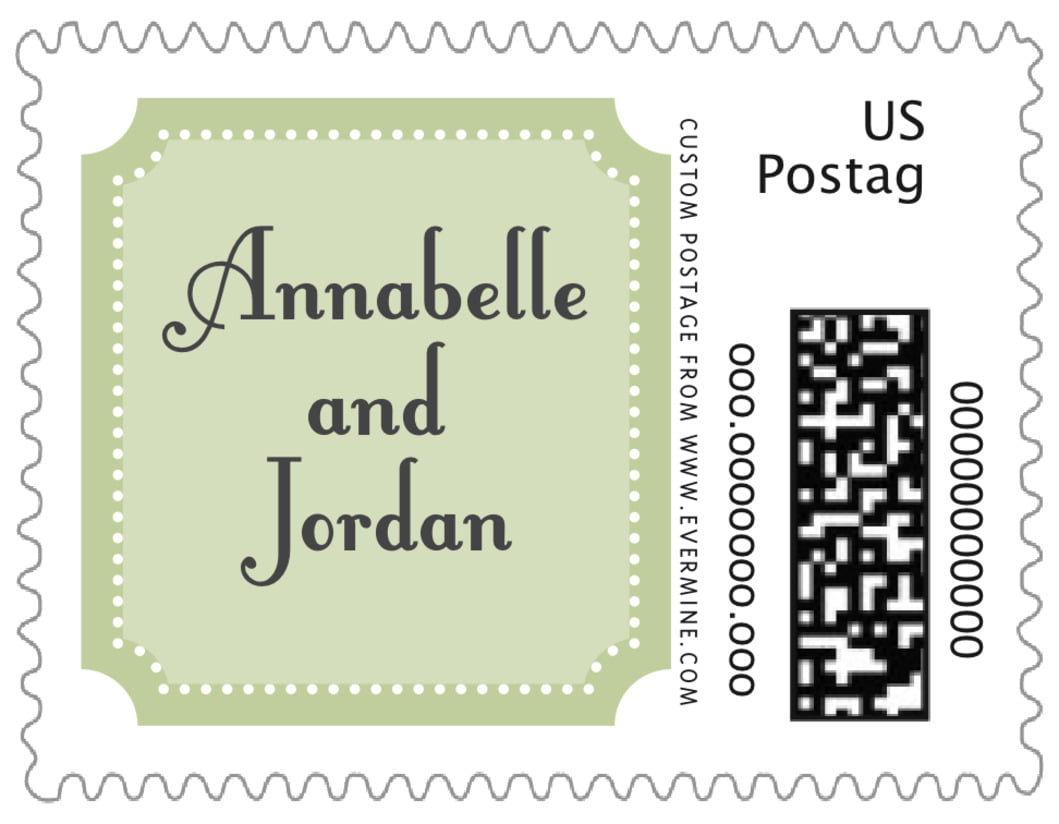 small custom postage stamps - green tea - summer garden (set of 20)