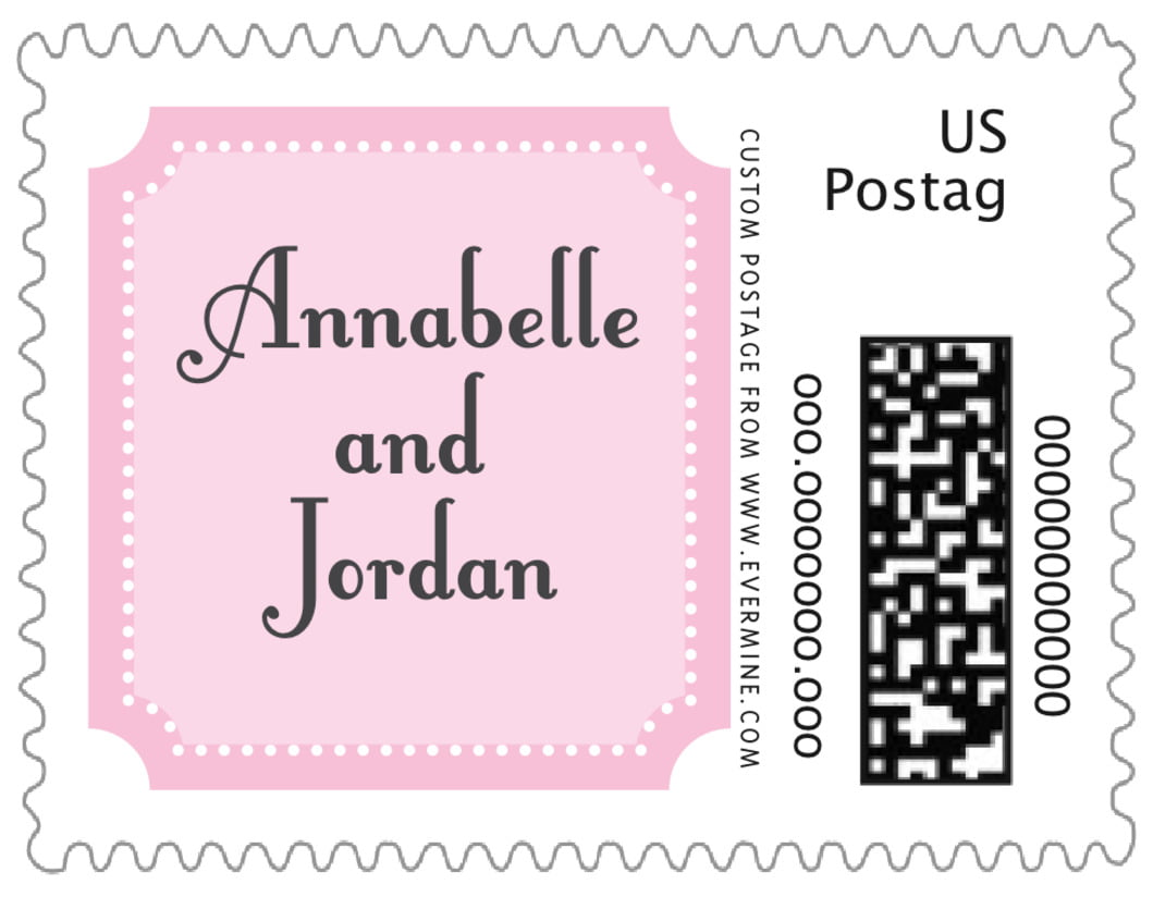 small custom postage stamps - pale pink - summer garden (set of 20)