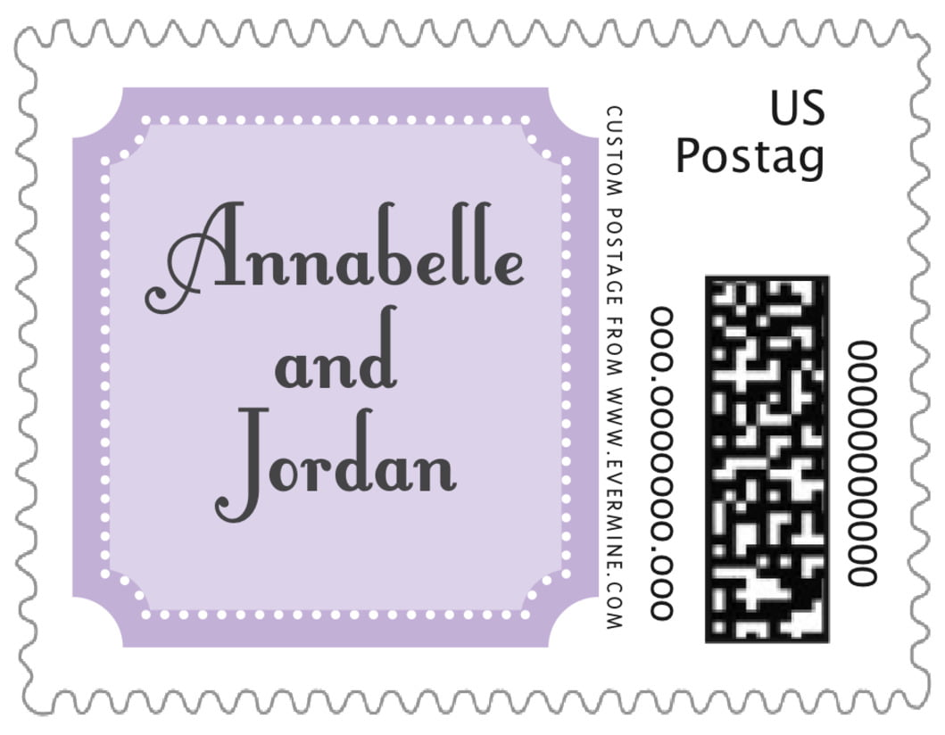 small custom postage stamps - lilac - summer garden (set of 20)