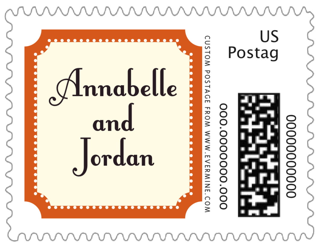 small custom postage stamps - spice - summer garden (set of 20)
