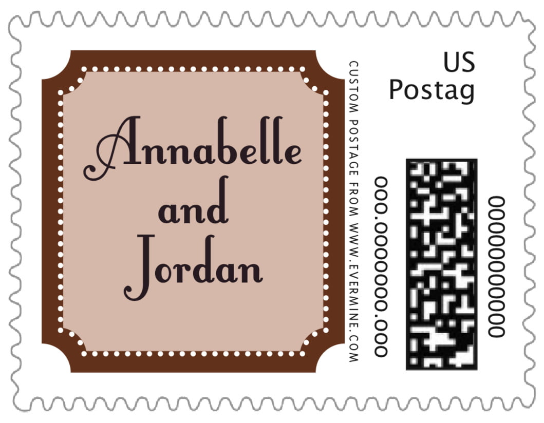 small custom postage stamps - chocolate - summer garden (set of 20)