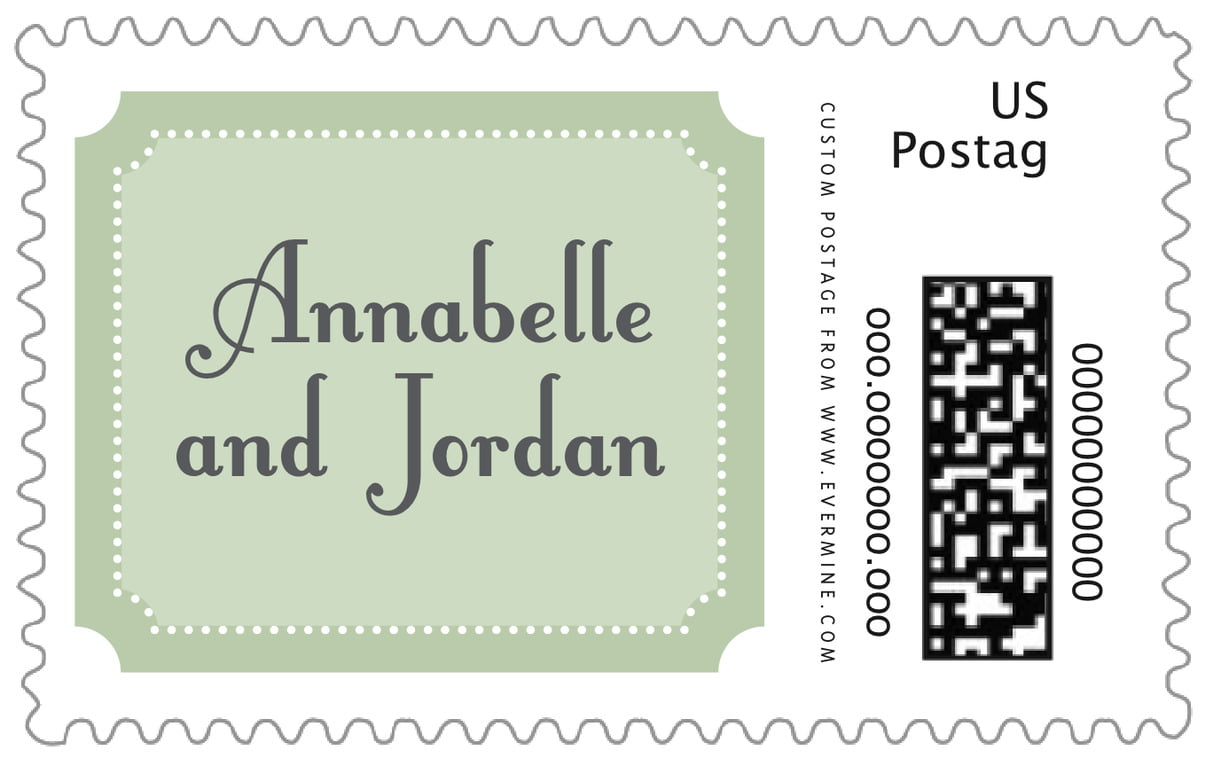 custom large postage stamps - sage - summer garden (set of 20)