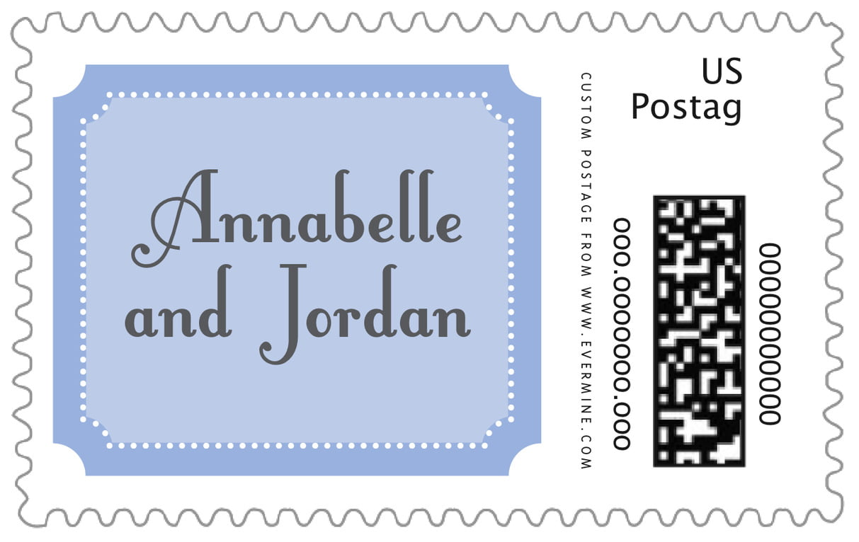 custom large postage stamps - periwinkle - summer garden (set of 20)