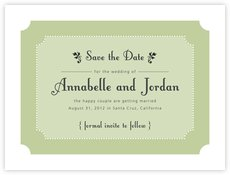 Summer Garden save the date cards