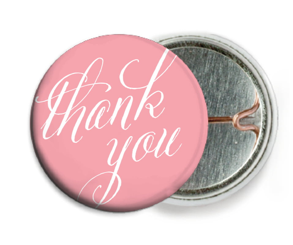 custom pin back buttons - grapefruit - signature script (set of 6)