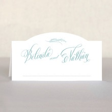 Signature Script Place Card In Sea Glass