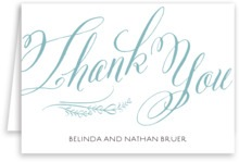 Signature Script wedding thank you cards