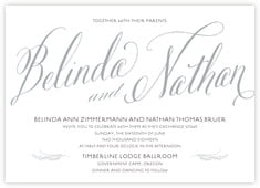Signature Script invitations